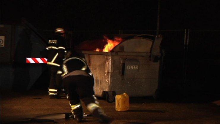 Brand auf dem Gelände der Unterkunft am Gymnasium